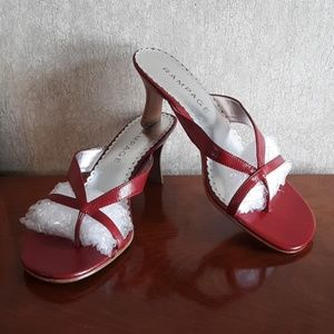 Rampage red strappy heels sandals shoes size 8.5